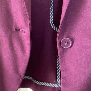 Maurices Jackets & Coats - {Maurices} Plum Blazer with Stripe Accents
